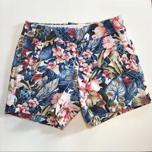 J. Crew Stretch Tropical Print Shorts